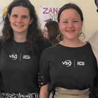 Three volunteers on placement in Tanzania