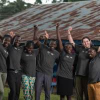 VSO ICS  volunteers on the Deafway project poses for a portrait in Nandi, Kenya.
