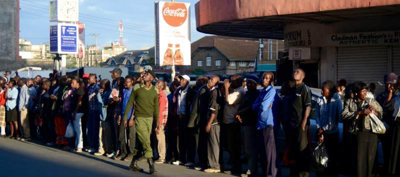 Businesses pack up to catch a glimpse of president Uhuru Kenyatta