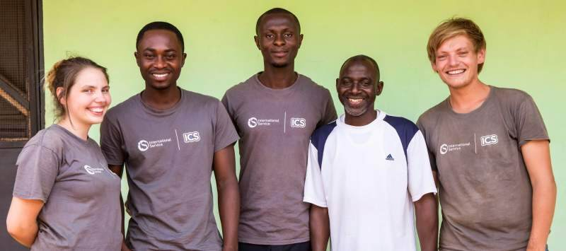 International Service volunteers in Ghana