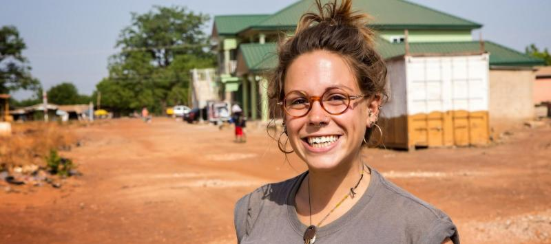 International Service UK Team Leader Kristina Golijanin in her host community of Tamale