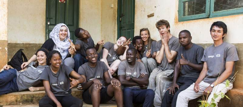 Group of volunteers in Tanzania