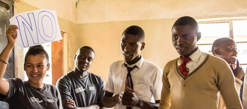In Zambia, young people make up 70% of the population. ICS volunteers there deliver sexual health sessions