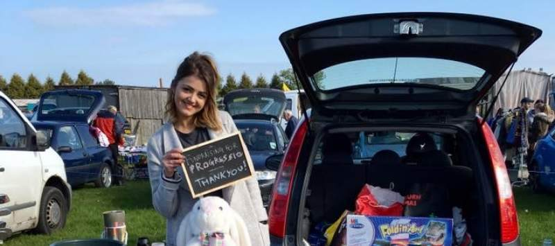 Volunteer at car boot sale