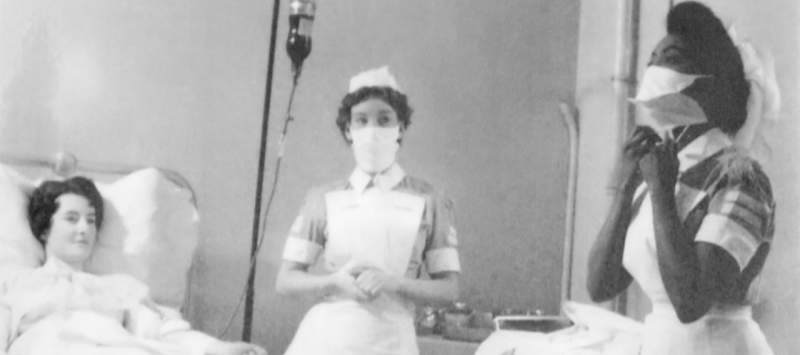 Edna, pictured here as a student nurse in Hammersmith, London, in 1959