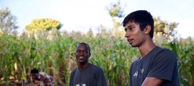 Naseem volunteered with ICS in Kenya