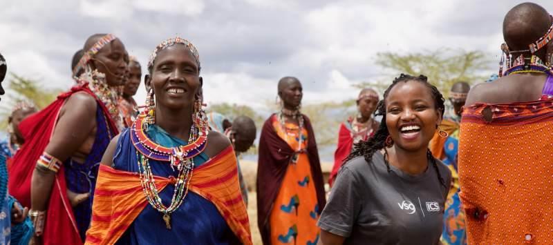 ICS volunteer with Masai