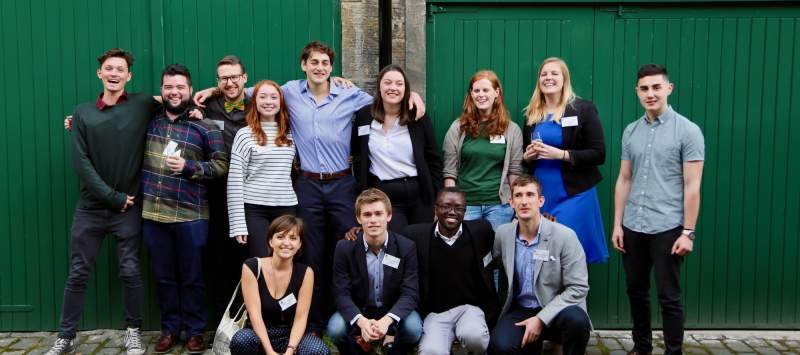 Matt with fellow Challenges ICS volunteers at a CMI event