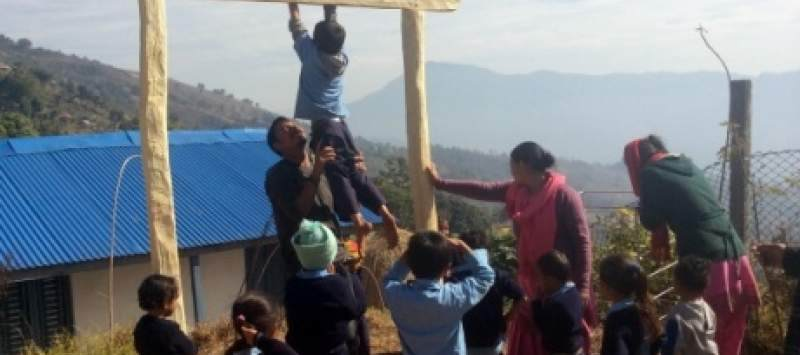 Danial on placement in Nepal