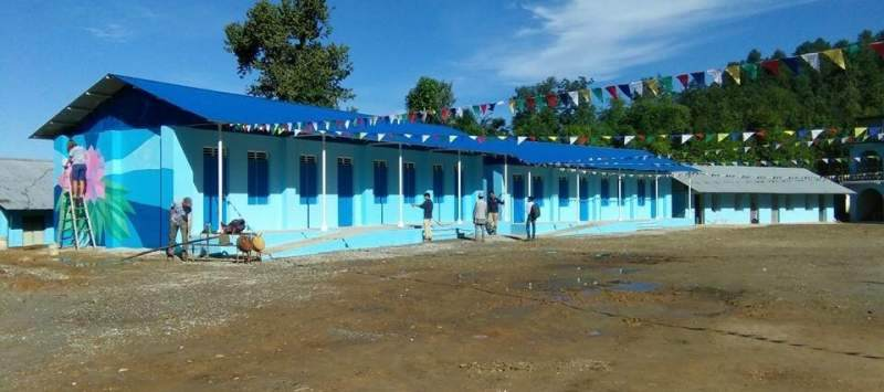 Keah was working with a charity to rebuild three schools destroyed in the earthquake