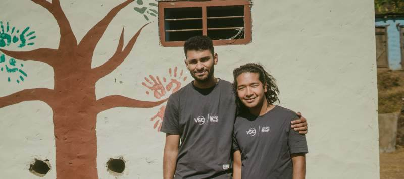 ICS volunteers in Nepal supporting education projects