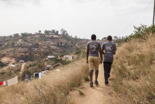 Volunteers with charity Tearfund working in South Afica