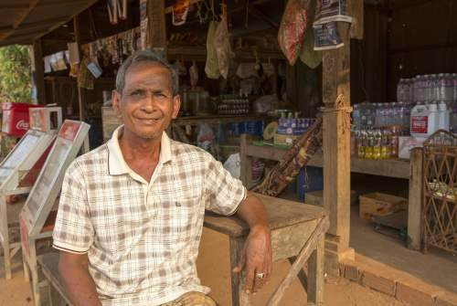 Shop keeper in Cambodia