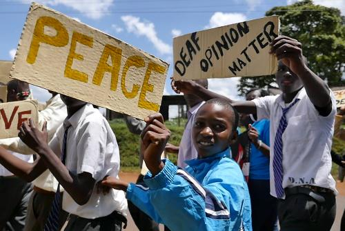 Deaf rights march Kenya