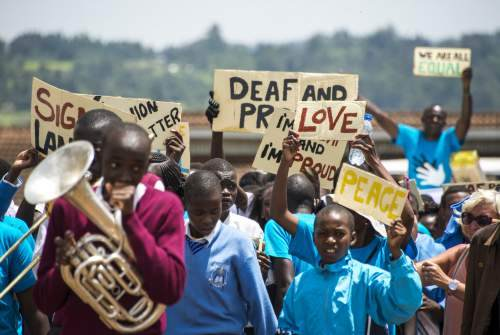 march in Kenya for deaf rights