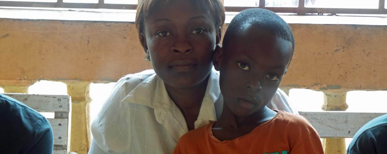 entrepreneur Agnes with her son