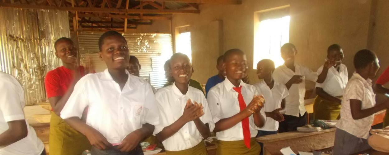 Teenage girls involved with a WIL Uganda school programme in Busembatia