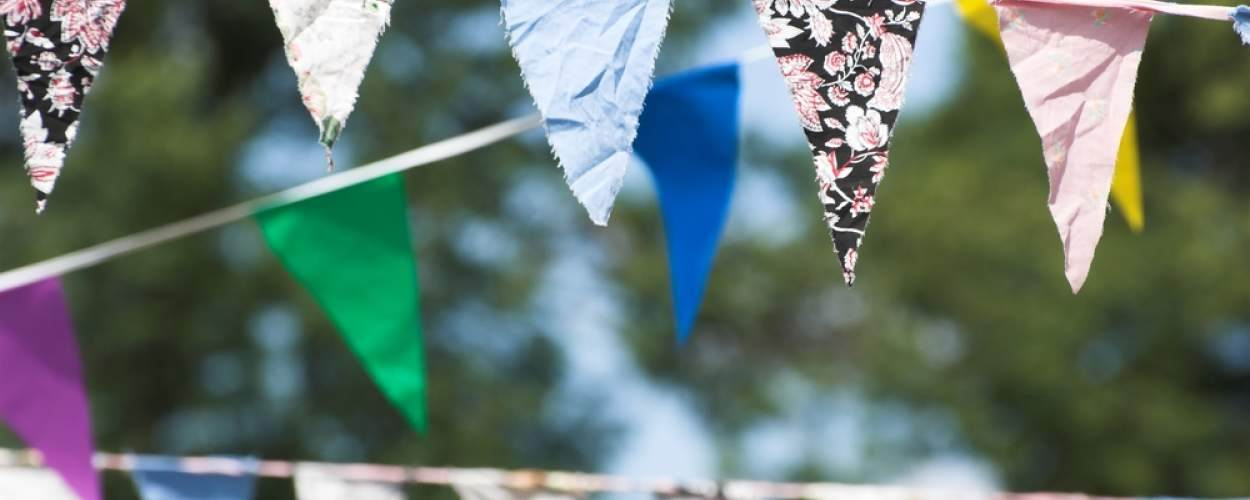 bunting at fete