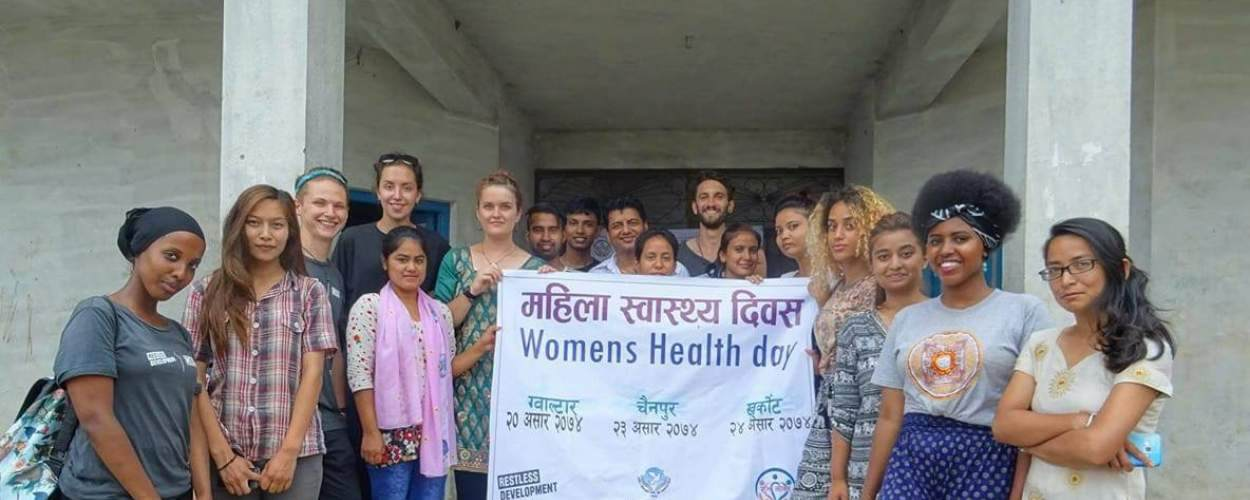 Restless Development ICS team hold a women's health day