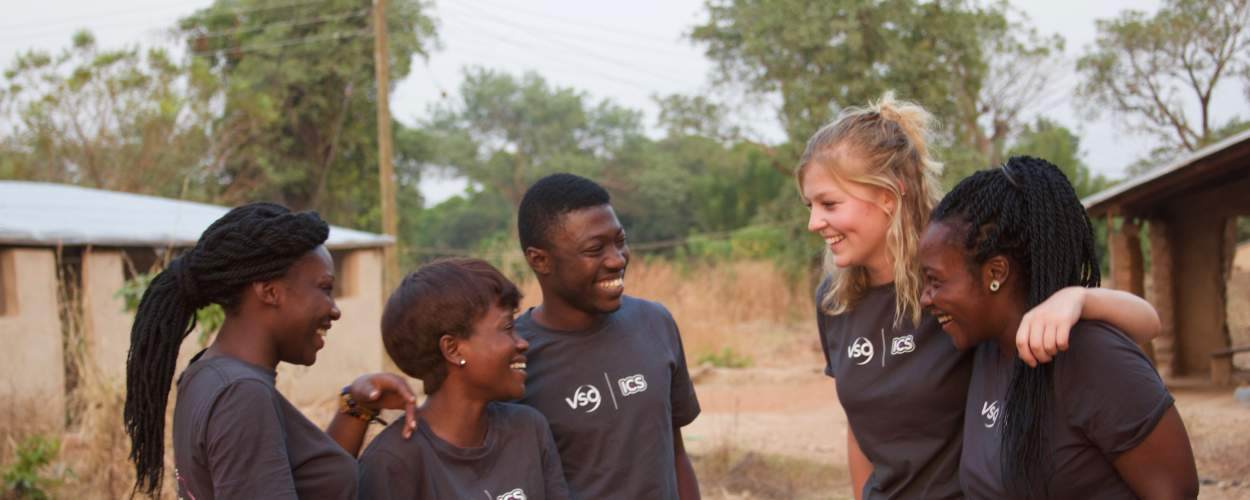 Volunteers on placement in Ghana