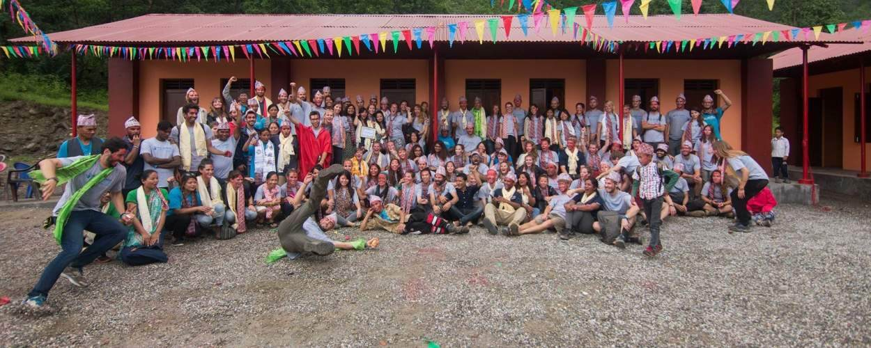 Keah with her team of volunteers in Nepal after returning in the disaster relief efforts