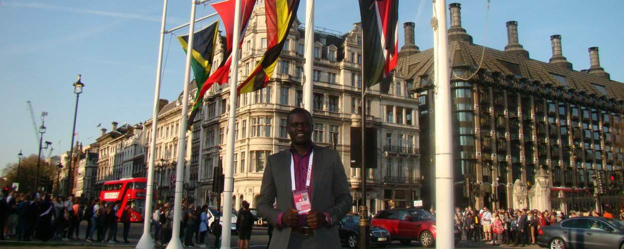 Felix at the Commonwealth Youth Summit in London.