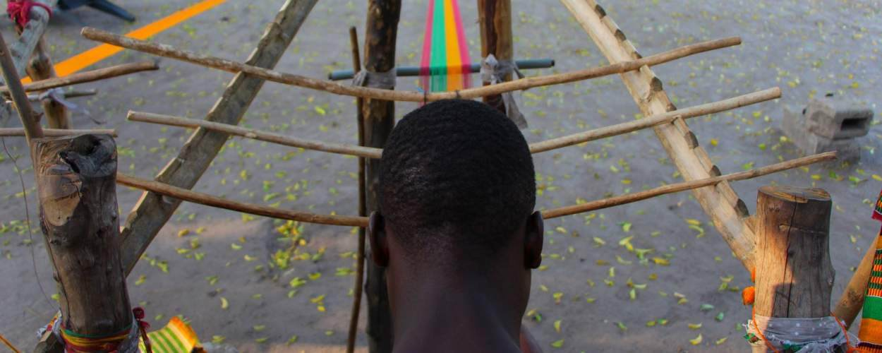 Alexander Roache took this photo of a Kente weaver while on placement in Ghana.