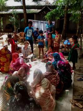 Alex and team at a Community Action Day in Bangladesh