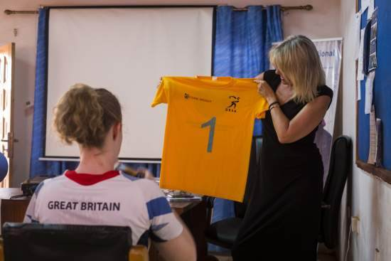 Jo Baker, CEO of International Service with Paralympian Georgie Bullen