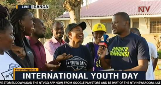 Volunteers in Iganga, Uganda, appeared on national TV to talk about their event