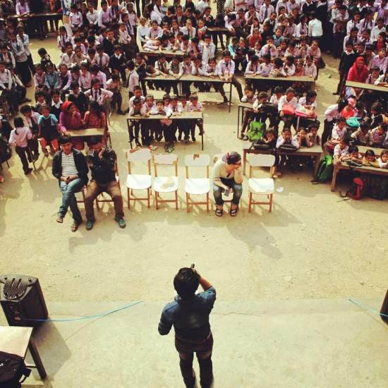 A drama festival takes place at a Community Action Day in Nepal