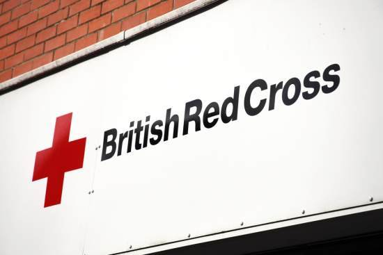 British Red Cross logo on shop front