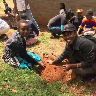 Students adopted a tree that they'll go on to take care of