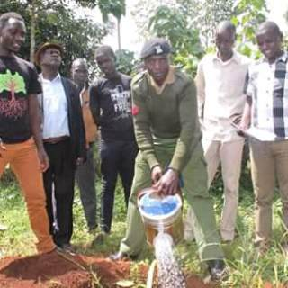 Local police took part in the tree planting