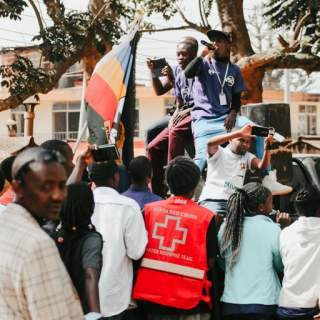 Volunteers have worked alongside the Kenya Red Cross