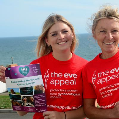 Eleanor campaigning for the Eve Appeal