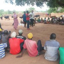 Volunteers facilitating a session at Lupenga communit