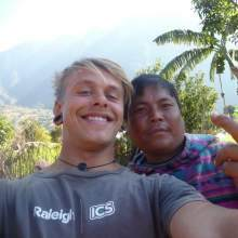 ICS volunteer on placement in Nepal